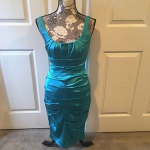 Gorgeous Teal Cache Cocktail Dress